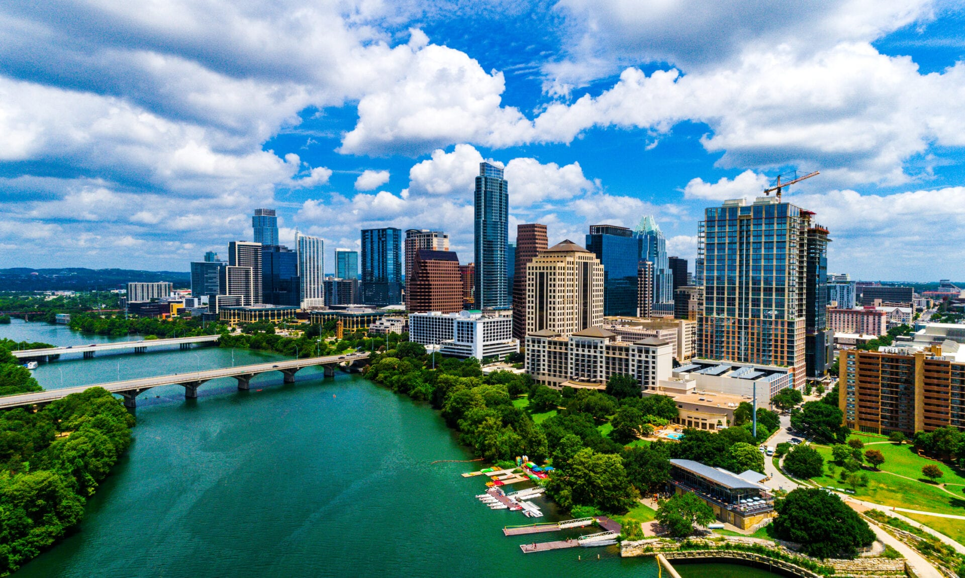 view of downtown Austin in the summer