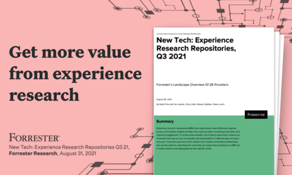 Forrester Research   New Tech: Experience Research Repositories