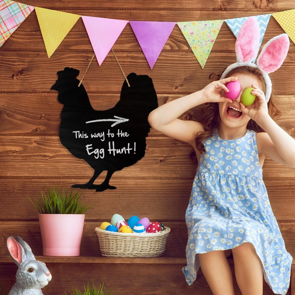 Easter egg hunt garden sign
