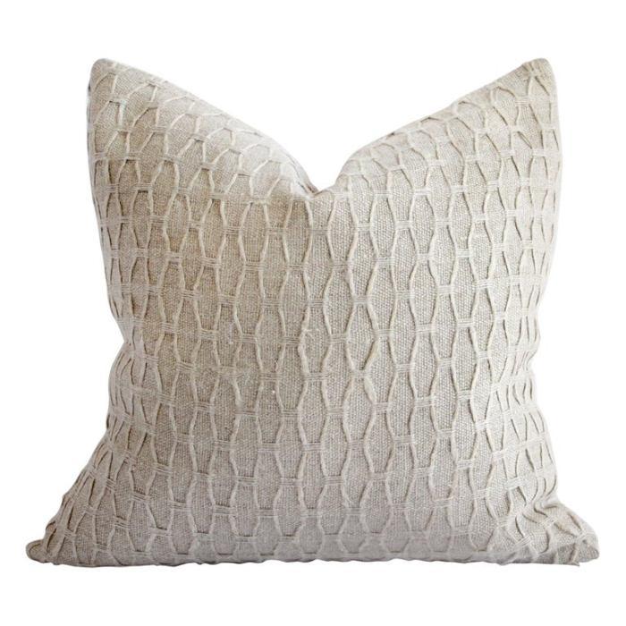 100% Belgian Natural Linen Decorative Accent Pillow