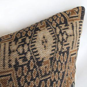 Antique Woven Textile Lumbar Pillow