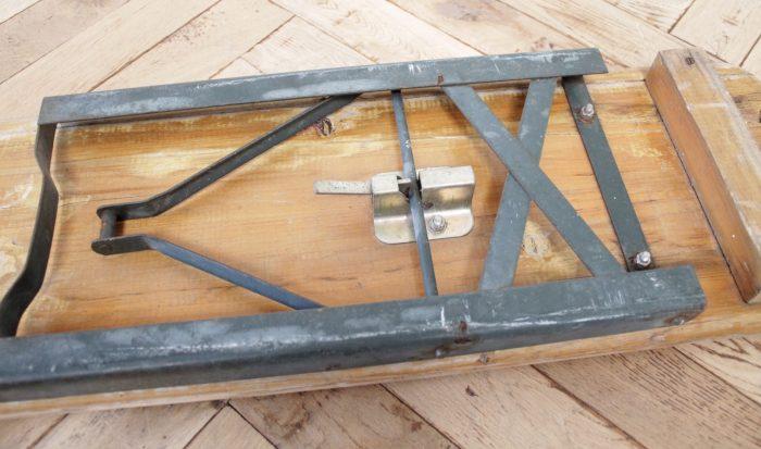 European Folding Bench with Metal Legs