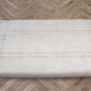 Custom Iron and Vintage Rug Upholstered Bench