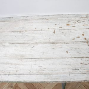 Antique European Painted Wood Folding Dining or Serving Table