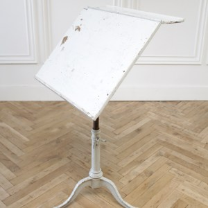 Antique Artist Painters Table or Side Table in Gray Chippy Paint