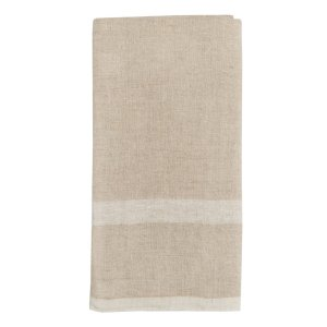Natural/ White Laundered Linen Towels S/2