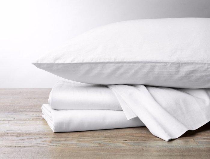 300 Thread Count Organic Sateen Sheet Set in White