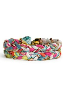 recycled fabric bracelets