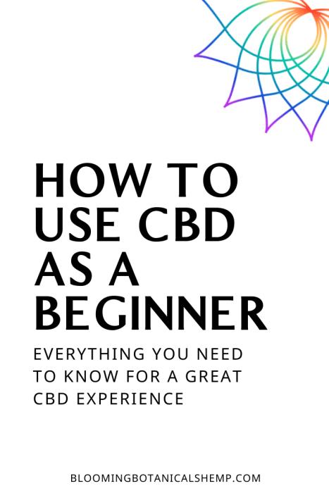 CBD for a beginner