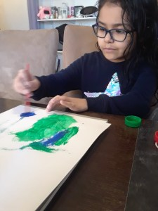 Sofia Finger Painting