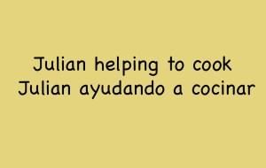 Julian Helps Cook