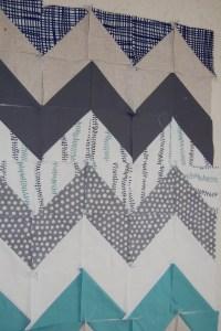 A Little Lotta Chevron Quilt- on the design wall ...