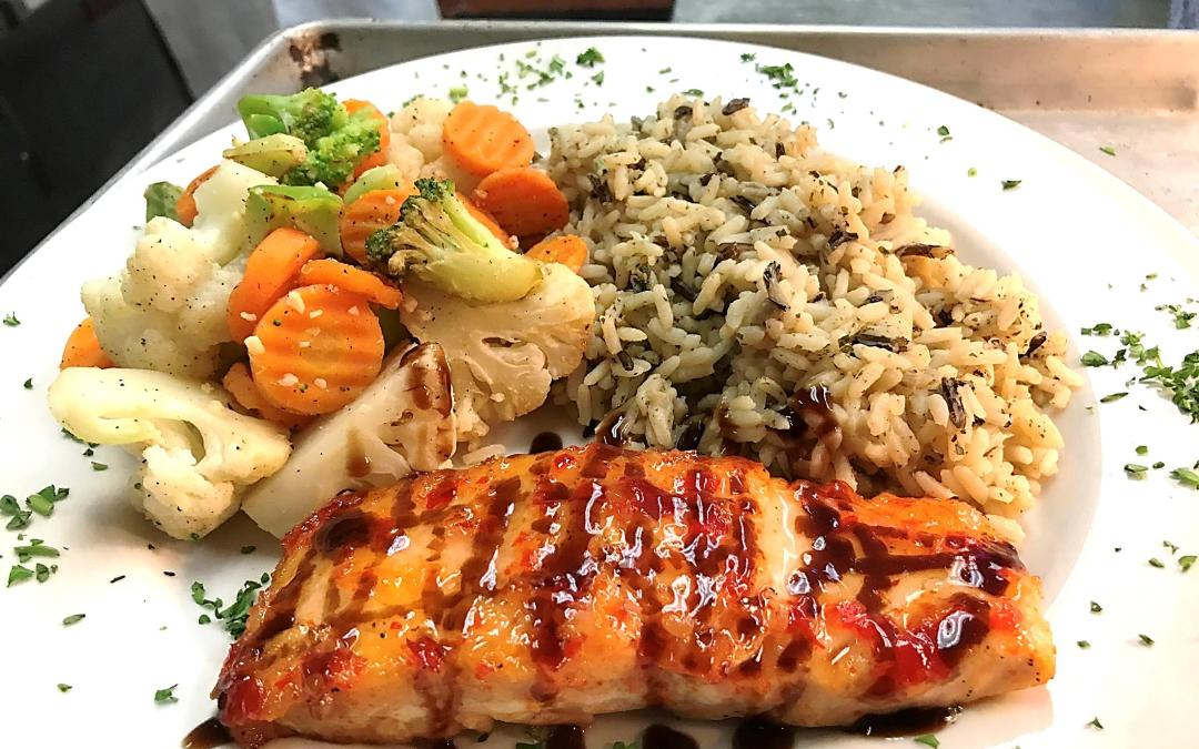 January Seafood Special – Sweet Chili and Balsamic Glazed Norwegian Salmon