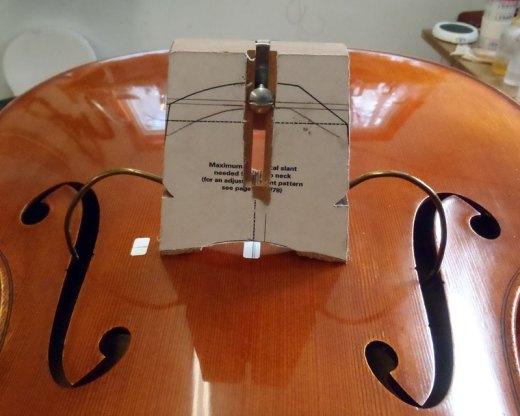 cello neck reset geomectric bridge