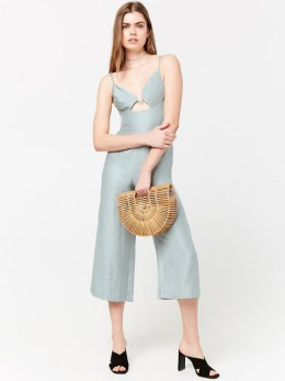 culotte jumpsuit blue