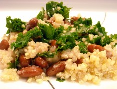 Quinoa with kale and kidney beans | Blooming Vegan