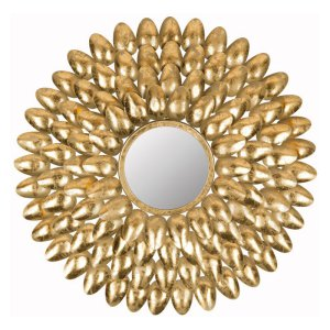 Safavieh Royal Leaf Sunburst Wall Mirror $90.20 Hayneedle