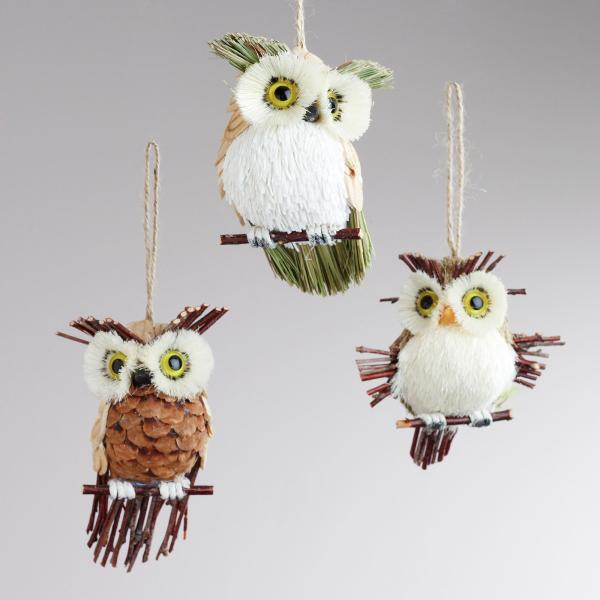 Handmade Owl Christmas Ornaments Natural Year Of Clean Water
