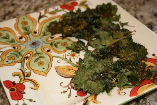 kale chips in the oven