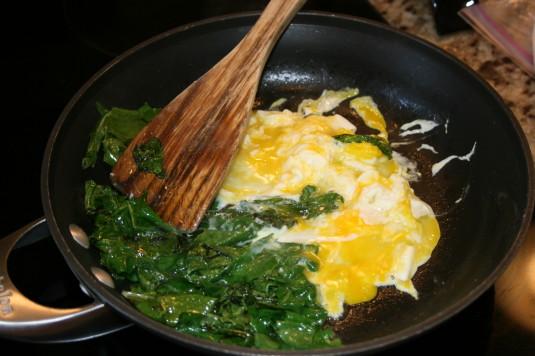 break eggs