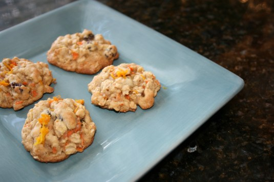 Oatmeal carrot cookies for dessert