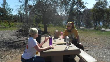 EndoSisters Jenn & Donatella taking a break, photo by Lisa Drayton
