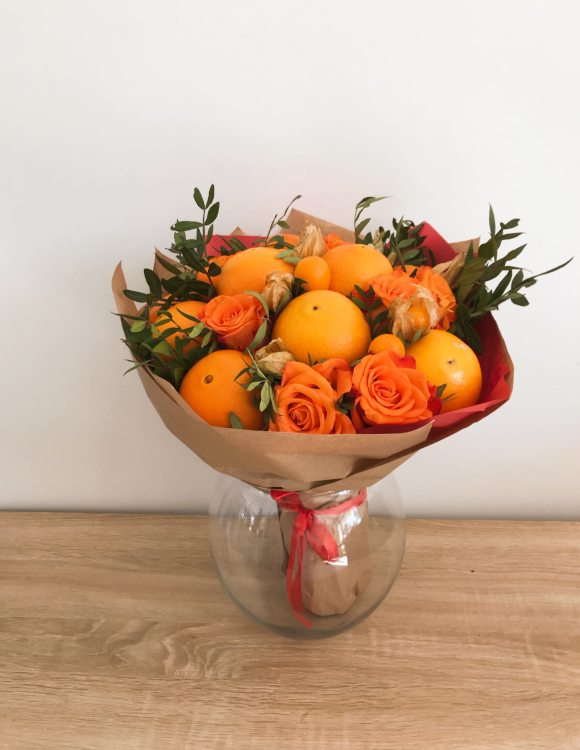 bouquet de fruits orange