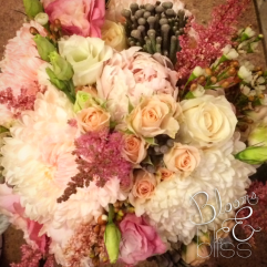 Blush, pink and ivory bridal bouquet