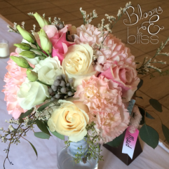 Pink, Blush and Ivory Bridesmaid Bouquet