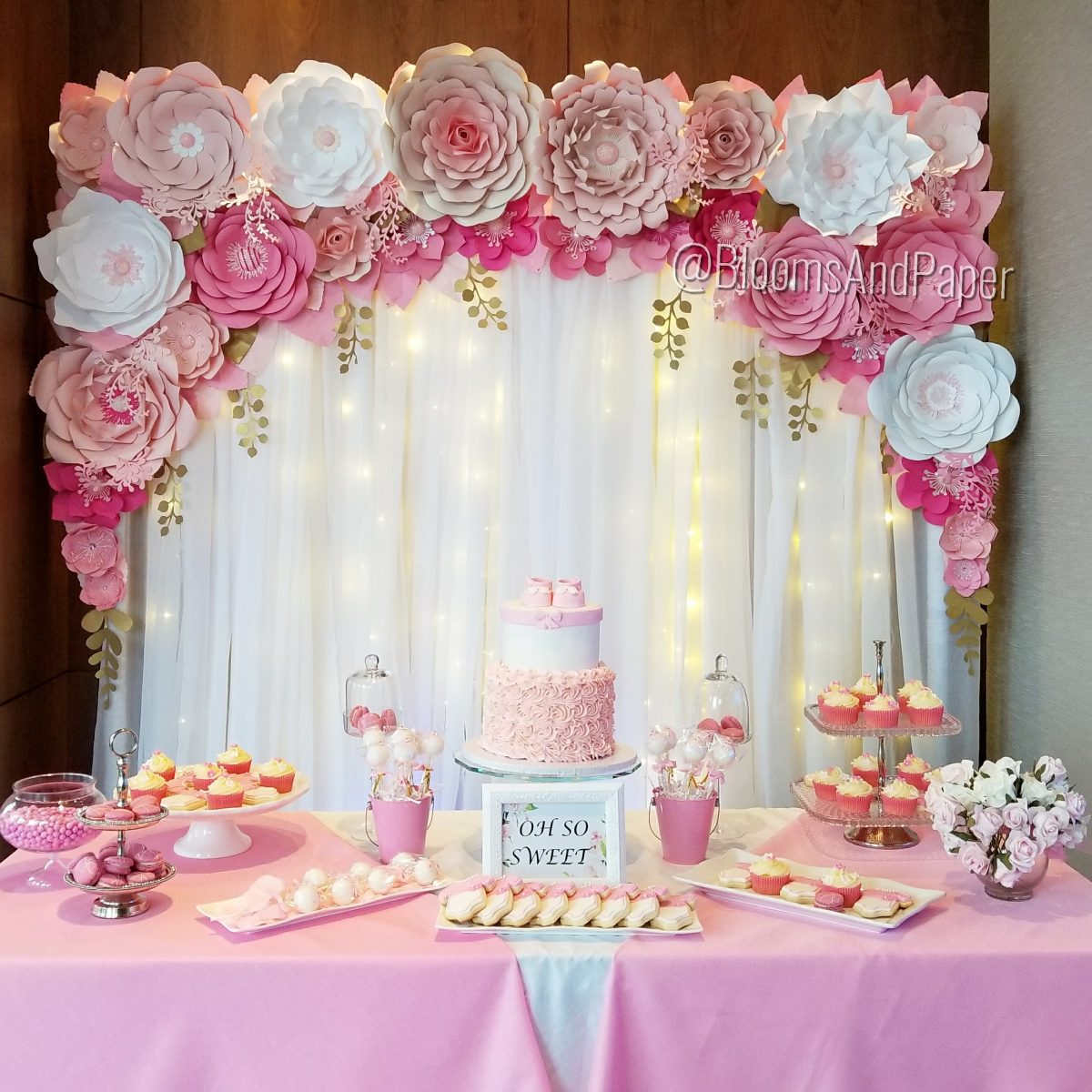 Sweet Table Decor  Styling Package  BloomsAndPaper