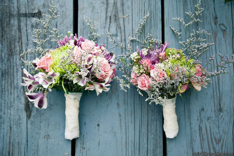 Do-It-Yourself Barn Wedding In Vermont Using Wholesale Flowers