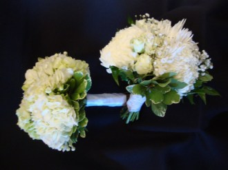 whitewithgreenbouquets