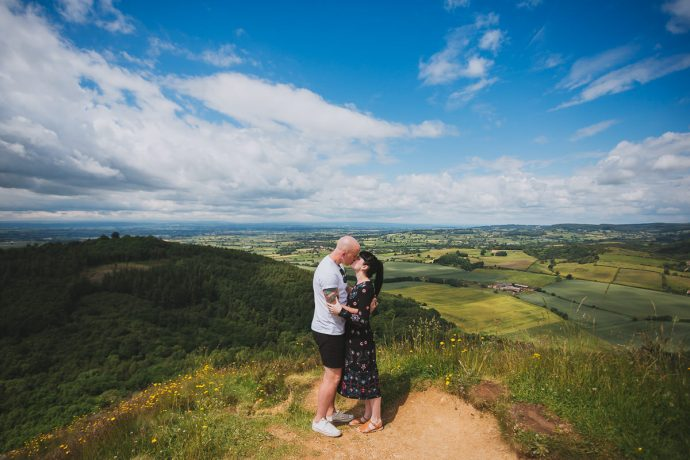 Engagement shoot at Sutton Bank