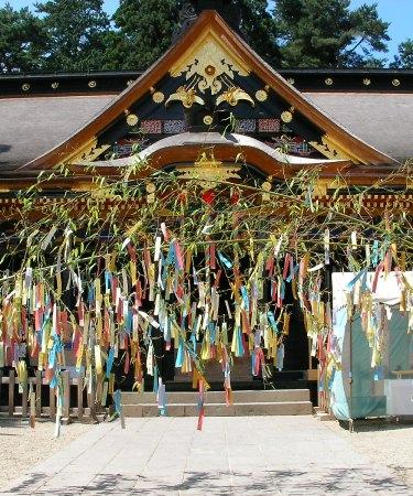 tanabata star festival bamboo shrine