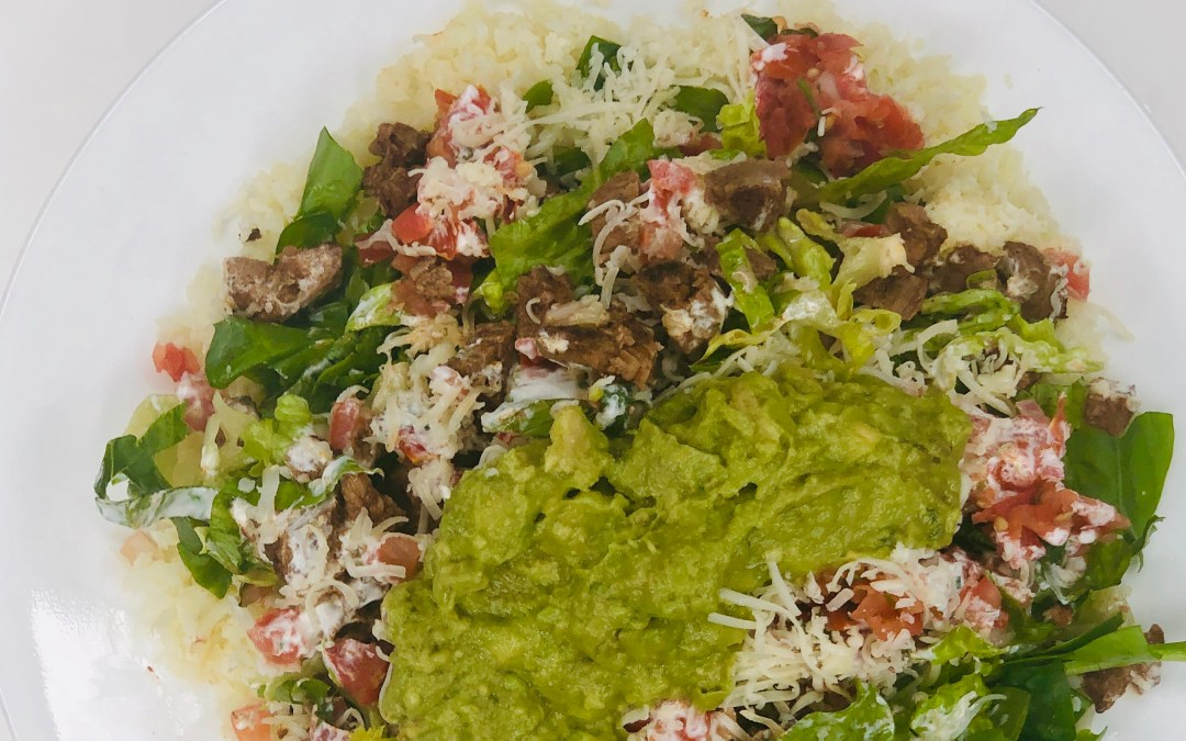 Mexican Keto Beef Rice Bowl