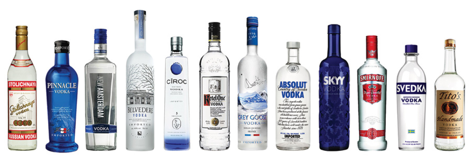 Quick: What's the difference between these brands of vodka? Answer: Nothing. Don't tell that to your wallet, though.