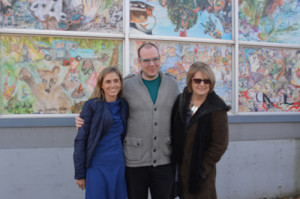"Dr Delaney Ruston, (Hidden pictures), Jeff Wright (Program manager RWM), Lisa Brown (Founder ""Workman Arts"""