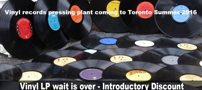Vinyl LP Record Pressing Plant In Toronto