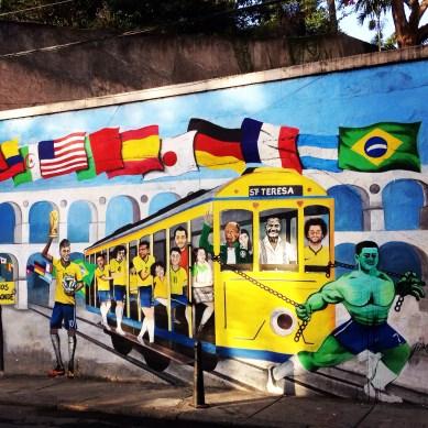 Bonde da Seleção mural, Santa Teresa, Rio de Janeiro