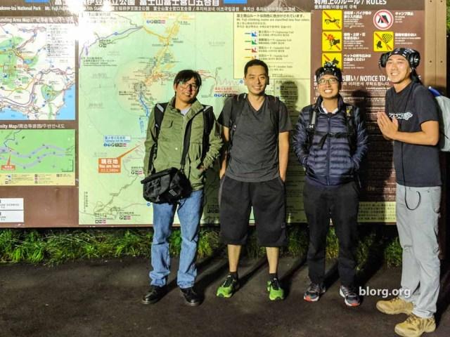 mt fuji climb starting point