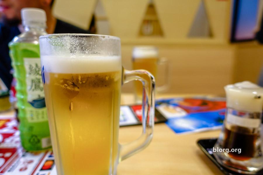 kura sushi draft beer