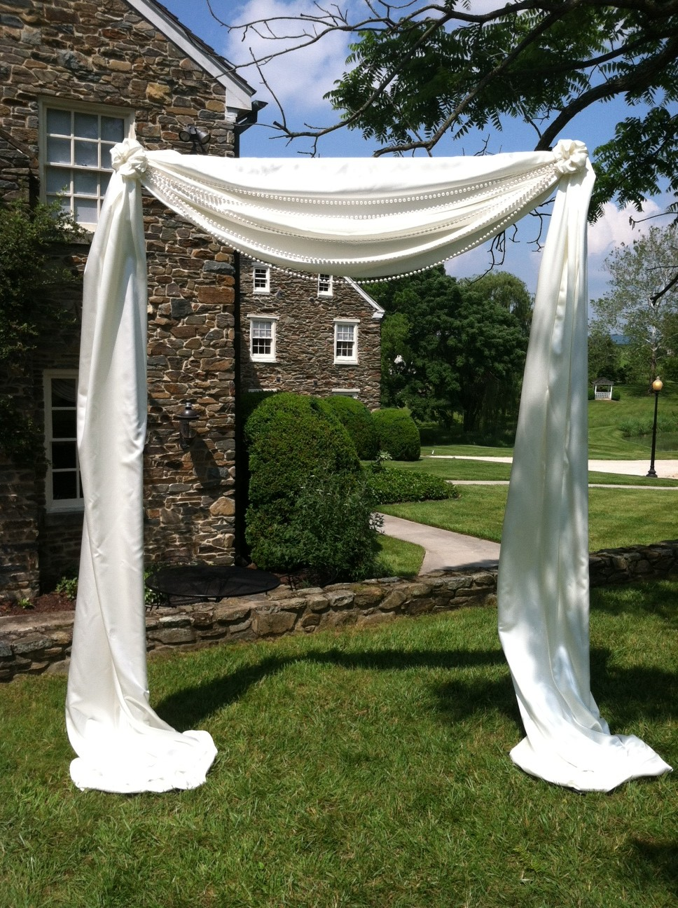 Fabric Pipe and Drape Arch  Blossom  Basket Boutique