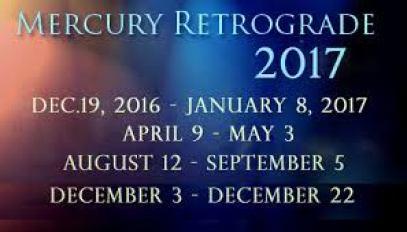 Mercury Retrograde 2017 Calendar