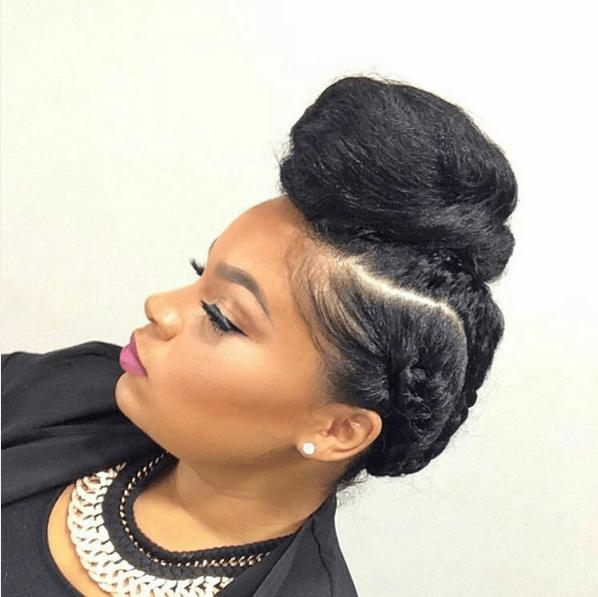 25 Stunning Natural Hair Updo Styles Blossom Solblossom Sol