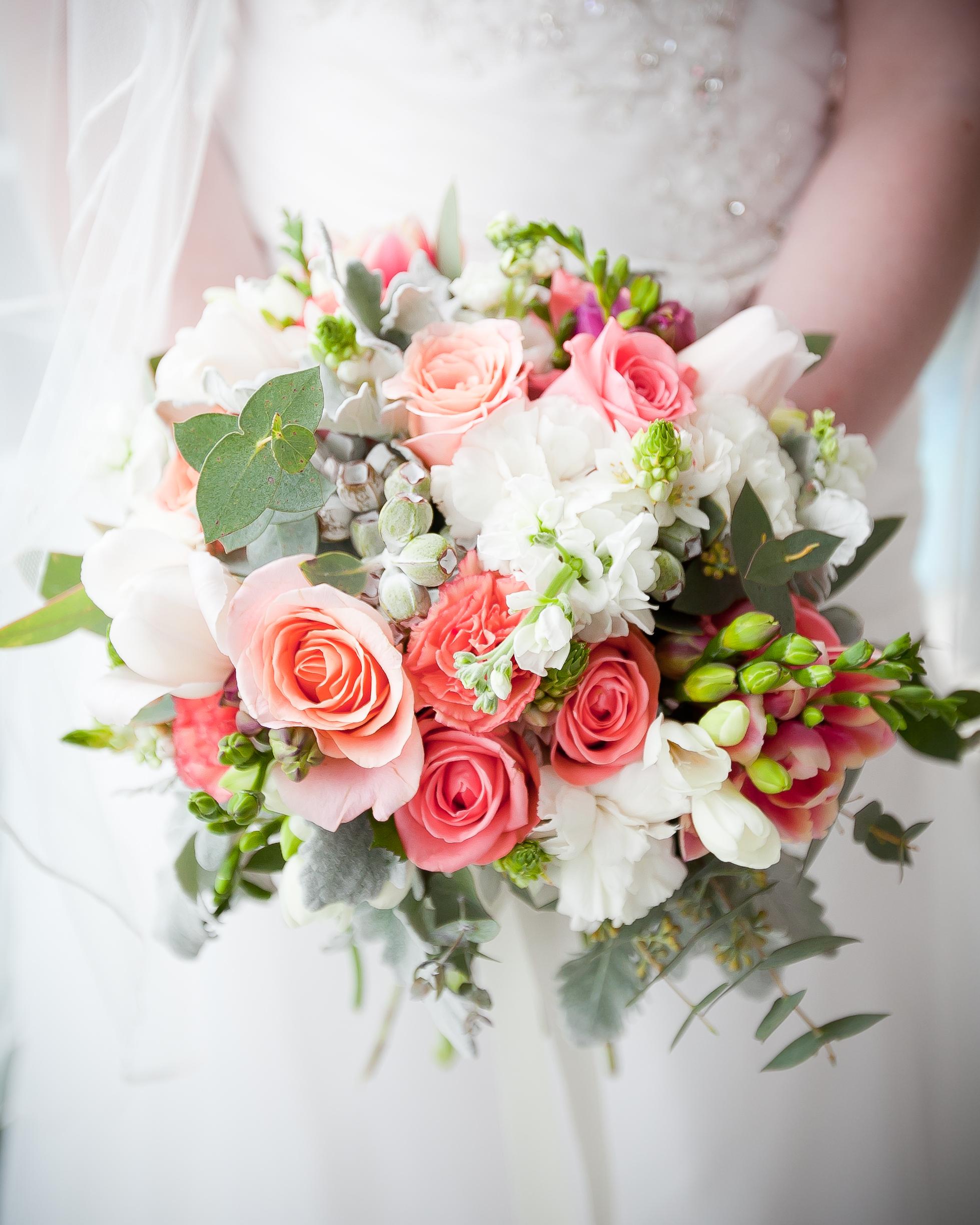 Coral and Pink Wedding Flowers  Brisbane Wedding Florist  Blossom  Twine