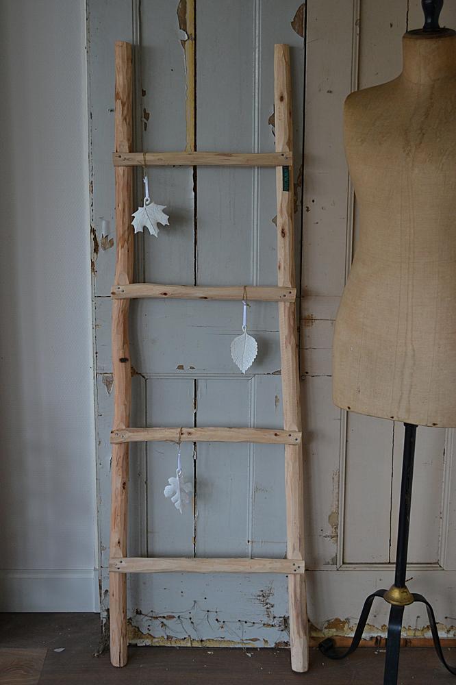 Houten decoratie ladder  wwwblossombrocantenl