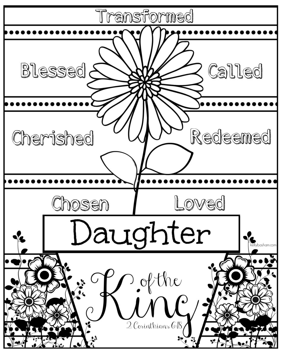 Daughter of the King Coloring Page