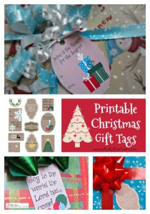 Printable traditional Christmas Gift Tags