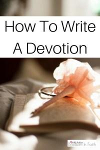 How to write a devotion.