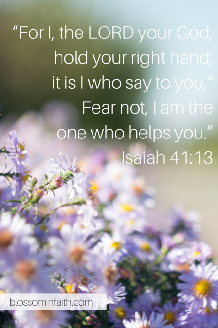 """For I, the LORD your God, hold your right hand; it is I who say to you, ""Fear not, I am the one who helps you."" Isaiah 41_13(3)"